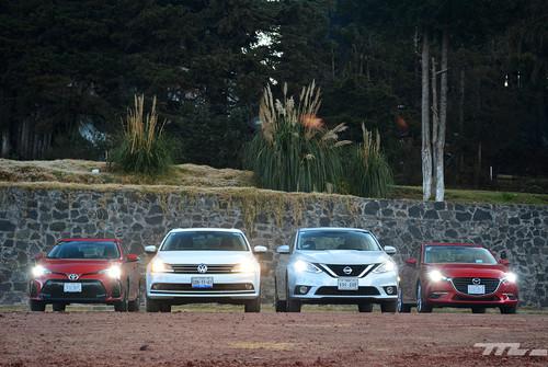Comparativa: Mazda3 vs. Nissan Sentra vs. Toyota Corolla vs. Volkswagen Jetta (III)