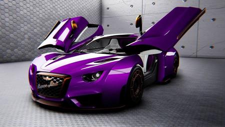 El superdeportivo eléctrico español Hispano Suiza Carmen se viste de fucsia para entrar en la colección del magnate Michael Fux