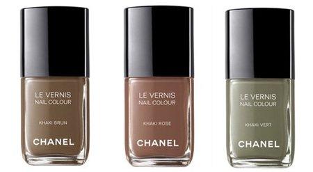 Esmaltes de uñas pardos de Chanel: les Khakis