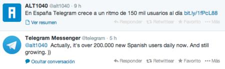 """Telegram presume de cifras: """"más de 200.000 nuevos usuarios en España cada día"""""""