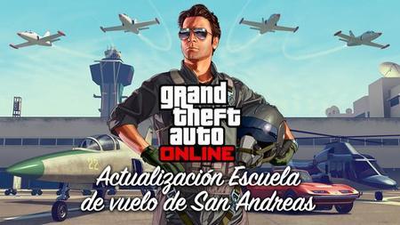 GTA Online recibirá mañana un nuevo DLC gratuito, la Escuela de vuelo de San Andreas