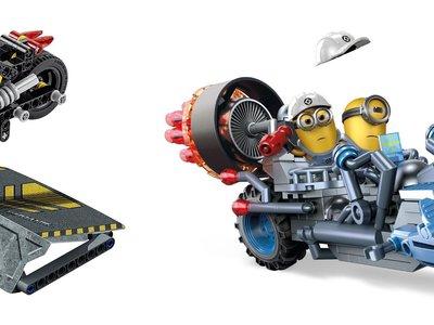 Dos motos de juguete en Amazon por menos de 15 euros muy diferentes: Lego technic y Minions