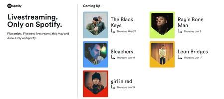 """Spotify presenta conciertos online por 15 dólares: """"la industria mundial de la música en directo está lejos de volver a la normalidad"""""""
