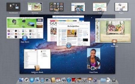 Mac OS X 10.7 Lion Mission Control