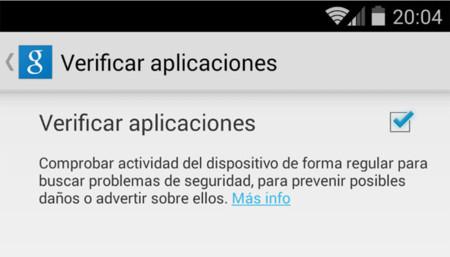 Verificar aplicaciones