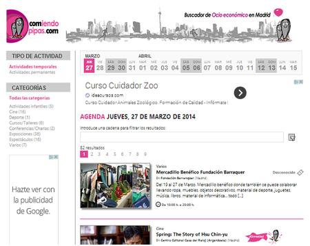 ComiendoPipas.com, buscador de ocio económico en Madrid