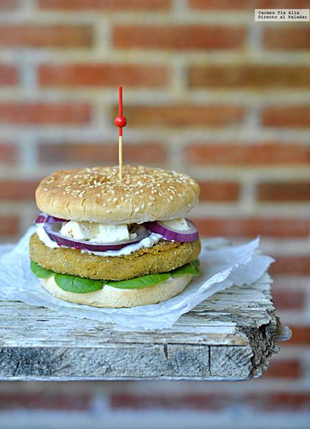 hamburguesa de falafel casera