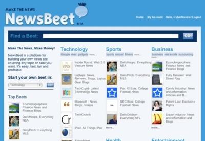 NewsBeet, crea tu portal de noticias y sácale rendimiento económico