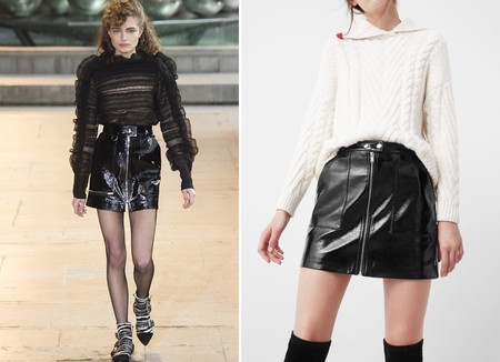 Isabel Marant Skirt Pattern Leather Mango