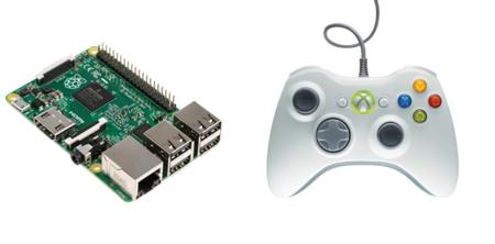 Conecta el gamepad con cable de Xbox a tu Raspberry Pi