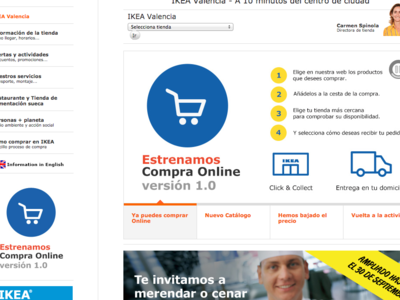 La venta online de IKEA: muy poca diferencia con su envío a domicilio ya en marcha