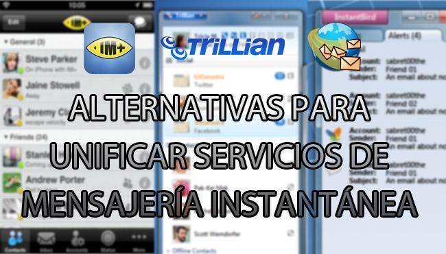 Alternativas para unificar servicios de mensajería instantánea en Genbeta