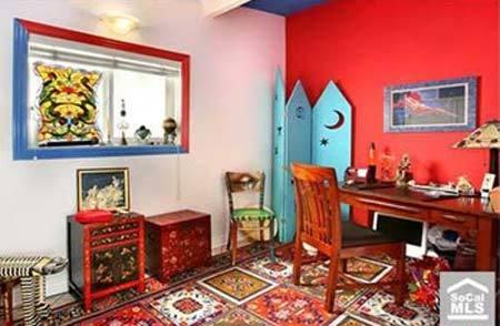 Una de las habitaciones de la casa de Nicolas Cage.