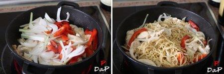 Cómo hacer salteado de pavo con noodles