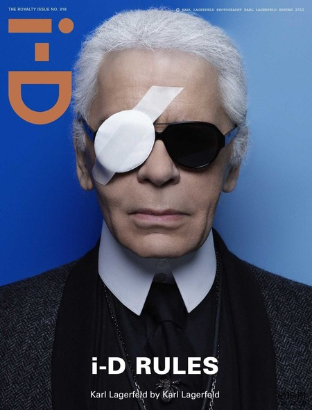 Karl Lagerfeld Covers I D Magazine Spring 2012