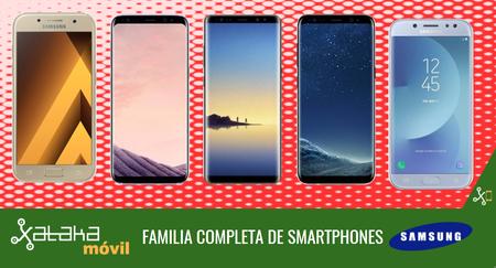Samsung Galaxy Note 8, así encaja dentro del catálogo completo de smartphones Galaxy en 2017