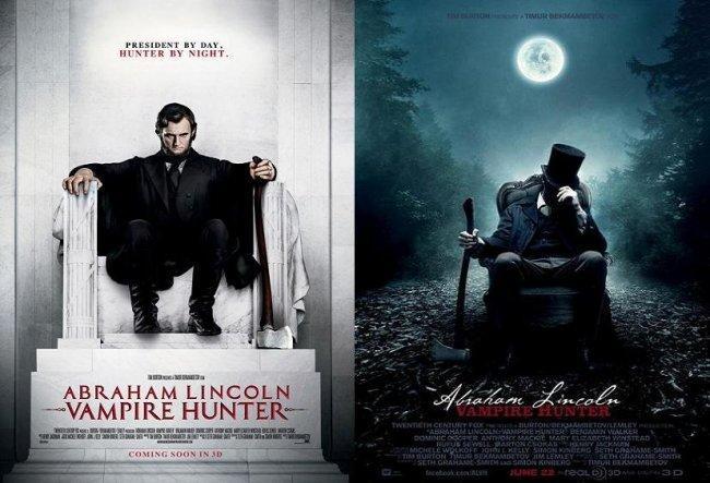 Carteles promocionales de 'Abraham Lincoln: Vampire Hunter'