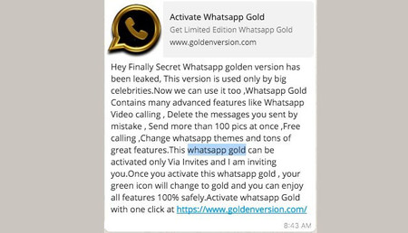 Whatsapp Gold Reclamo