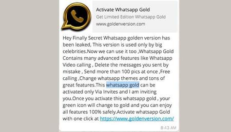 Whatsapp Gold Reclamo