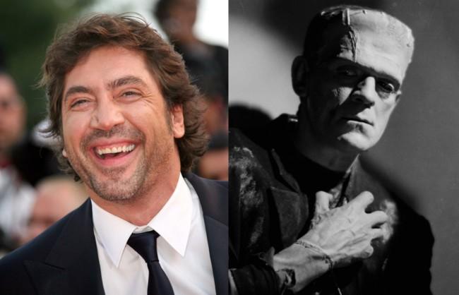 Javier Bardem y el monstruo de Frankenstein