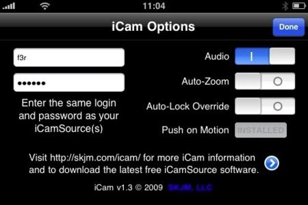 Preferencias de iCam