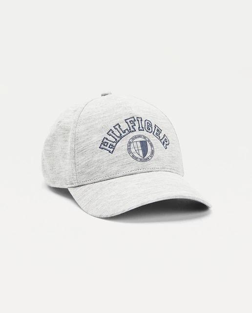 Gorra de hombre lisa con logo delantero color gris