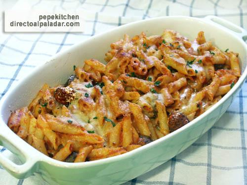 Receta de macarrones con alb ndigas - Macarrones con verduras al horno ...
