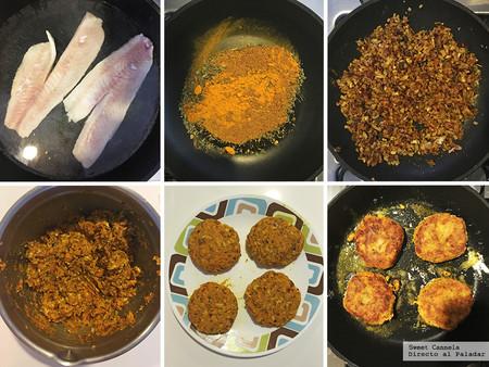 Tortitas De Pescado con especias indias