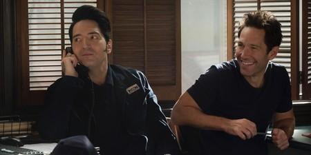 David Dastmalchian y Paul Rudd en Ant-Man y la Avispa