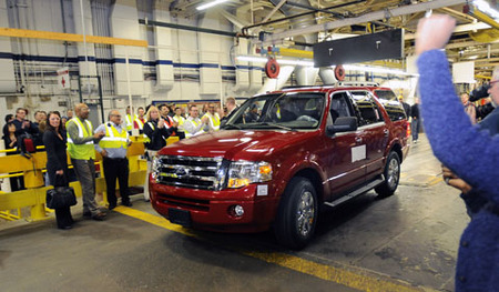 Linea de produccion del Ford Expedition