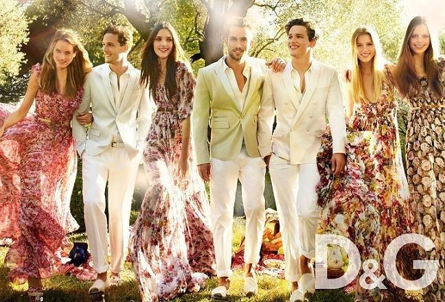 vestidos flores D&G