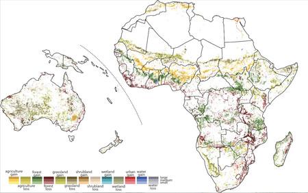Buena Mapa Africa Y Oceania
