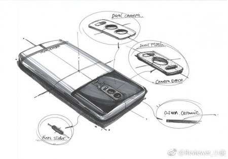 Bocetos del OnePlus 5