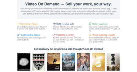 Vimeo lanza herramientas para que los creadores cobren por sus vídeos
