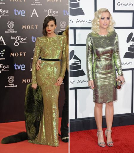Macarena Gómez vs Rita Ora clon Goya 2014