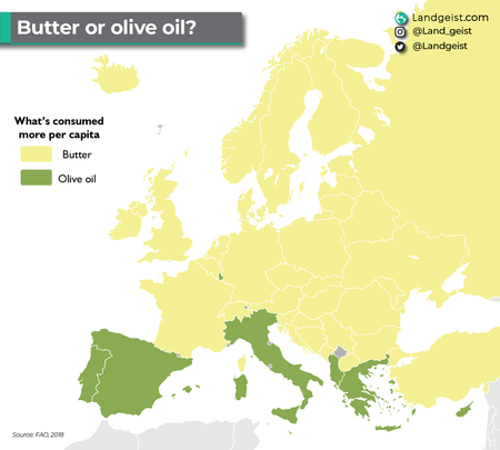 Europe Olive Oil Or Butter