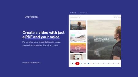 Draftsend te deja crear presentaciones gratuitas en vídeo con solo un PDF y tu voz