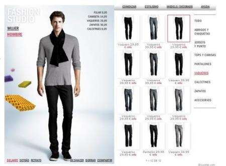 Aplicación Fashion Studio de H&M, para probar diferentes looks