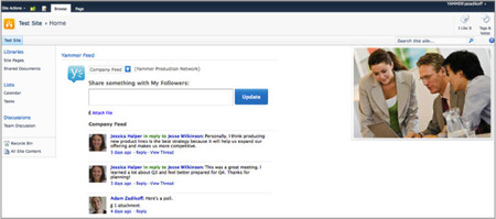 Yammer se convierte en la red social por defecto de Office 365