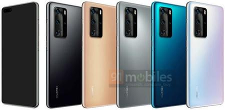 P40 Pro, así se vería el nuevo smartphone insignia de Huawei: seis cámaras en total y agujero en pantalla