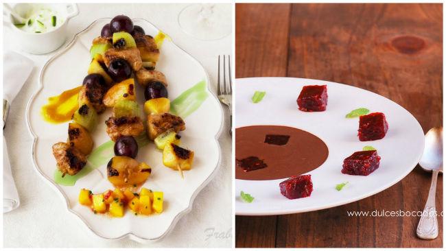 dos recetas de fruta