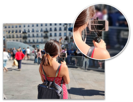 Oppo Reno 10x Zoom Retrato Exteriores Detalle
