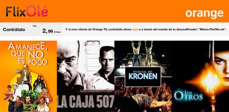 FlixOlé se suma a la plataforma de Orange TV con más de 3.000 títulos, principalmente de cine español