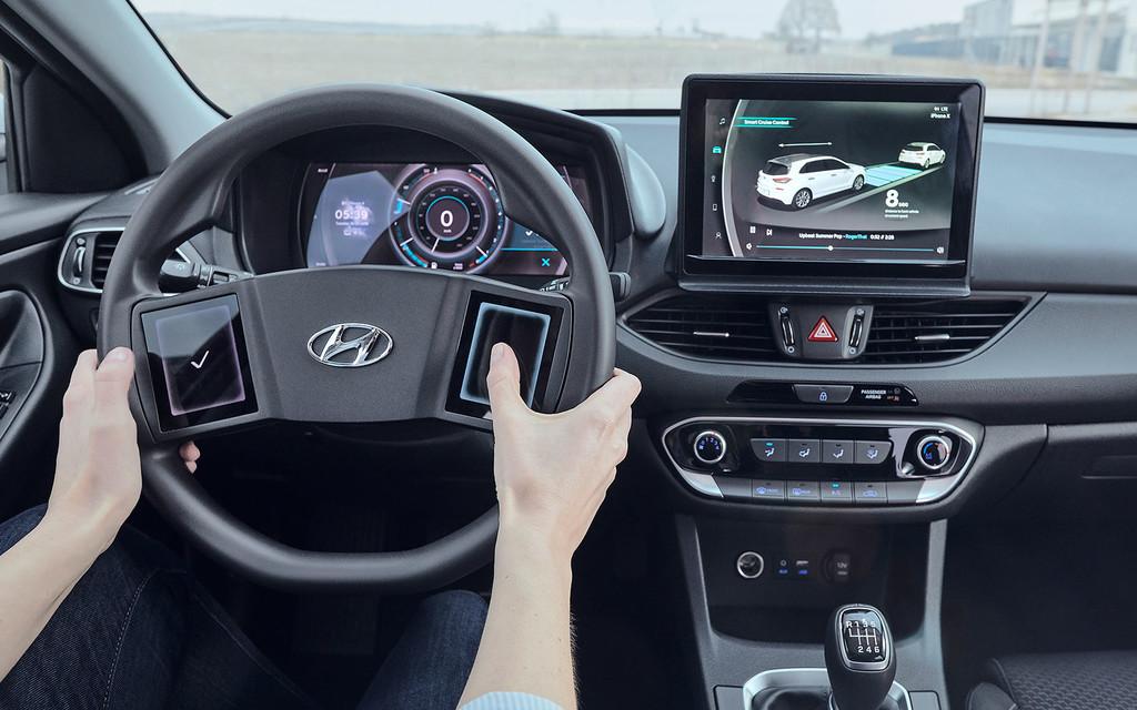 Volantes con pantallas táctiles y respuesta háptica: la visión de Hyundai para interactuar