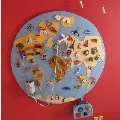Manualidades divertidas: un mapa del mundo de fieltro