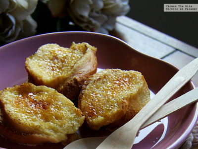 Torrijas rápidas en microondas: receta de Semana Santa