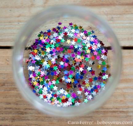 purpurina estrellas