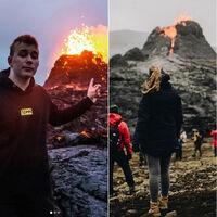 Un volcán ha entrado en erupción en Islandia. Y lo han convertido en una atracción turística
