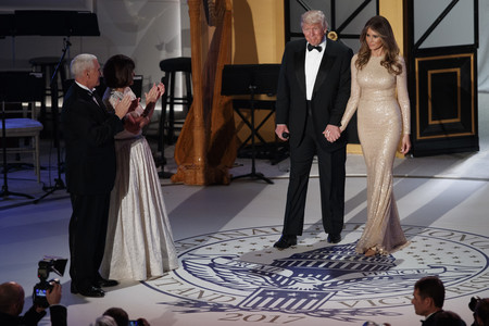 Melania Trump Reem Acra Cena Gala Washington 2017 2