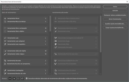Adobe Photoshop 2015.1 Barra de herramientas